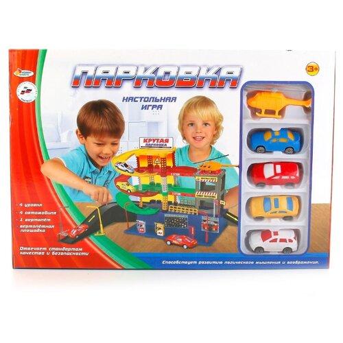Купить Играем вместе Парковка B596515-R желтый/красный/зеленый/синий/черный/серый, Детские парковки и гаражи