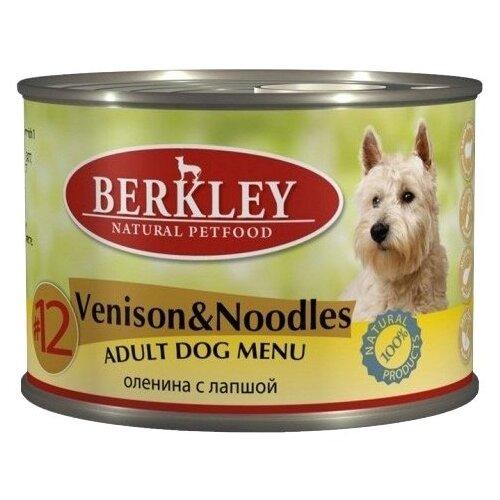 Фото - Влажный корм для собак Berkley (0.2 кг) 1 шт. Паштет для собак #12 Оленина с лапшой 200г влажный корм для собак berkley 0 4 кг 6 шт паштет для собак оленина с коричневым рисом 6шт х 400г