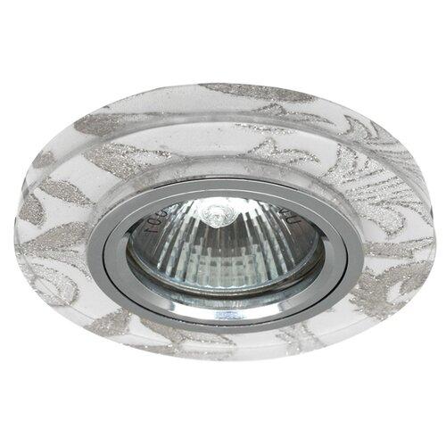 Встраиваемый светильник De Fran FT 897, хром / белый узор треугольник de fran ft 9228 g smd