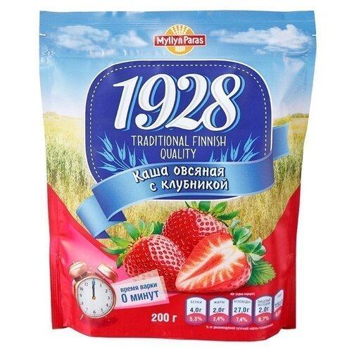 Myllyn Paras 1928 Каша овсяная с клубникой, с сахаром, 200 гКаши<br>
