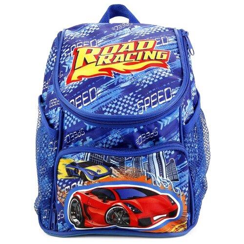 Купить Играем вместе Дошкольный рюкзак Гонки средний с передним карманом (EBP18-DRIVE) синий, Рюкзаки, ранцы