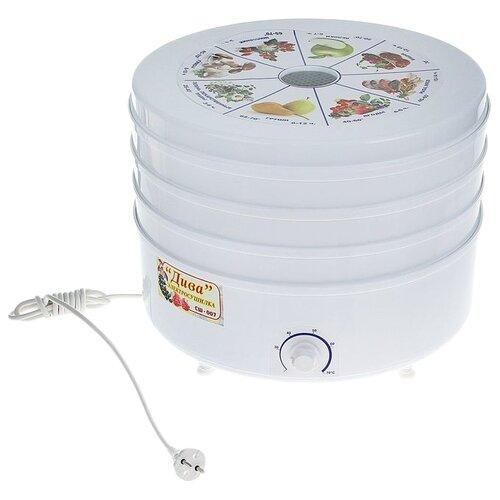 Фото - Сушилка Ротор Дива СШ-007 (3 поддона, белый) белый сушилка для овощей и фруктов ротор дива сш 007 11 прозрачный 3 поддона
