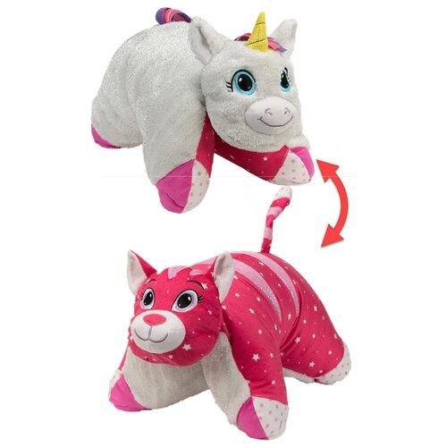 Купить Игрушка-подушка 1 TOY Вывернушка Белый единорог-Розовая кошечка 45, 7х55, 8 см, Мягкие игрушки