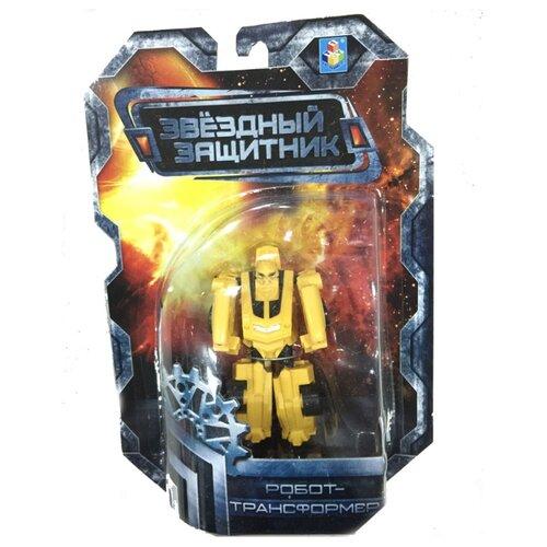 Трансформер 1 TOY Звездный защитник Спортивный автомобиль желтый трансформер 1 toy звездный защитник космолет красный черный