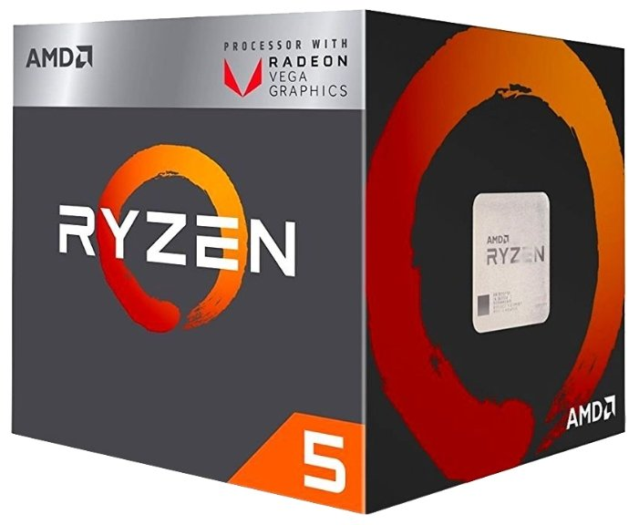 Процессор AMD Ryzen 5 2400G Raven Ridge (AM4, L3 4096Kb)