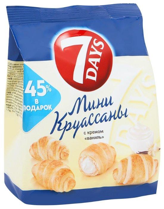 Мини-круассаны 7 Days с кремом ваниль, 105 г.