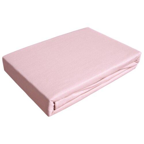 цена Простыня OLTEX трикотажная на резинке 140 х 200 см светло-розовый онлайн в 2017 году