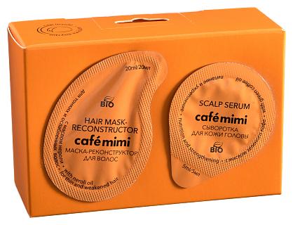 Cafe mimi Маска-реконструктор для тонких и ослабленных волос с маслом нероли