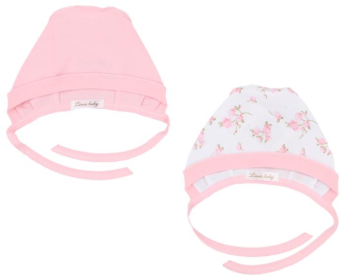 671cab5c1f69 Купить товар Чепчик Linas Baby размер 40-42 (3-6), белый розовый по ...