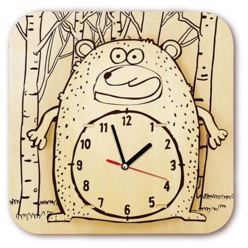 Купить Robotime Набор для росписи Часы-конструктор Медведь-раскраска (AC205P), Роспись предметов
