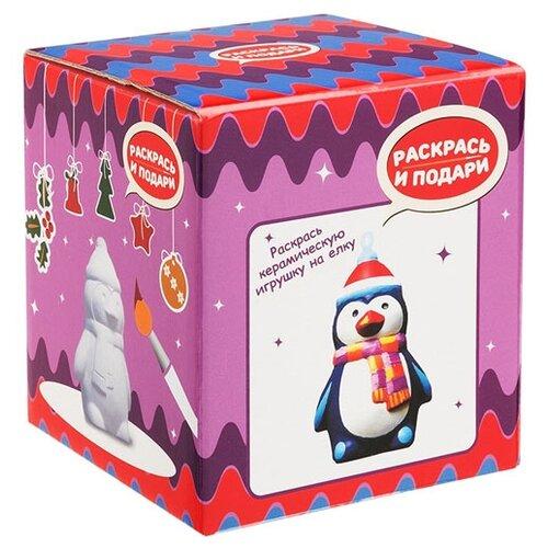 Купить Раскрась и подари Фигура для раскрашивания из керамики Пингвинчик (IG-1006), Роспись предметов