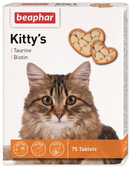 Добавка в корм Beaphar Kitty's Taurine + Biotin,