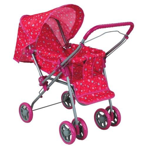 Купить Прогулочная коляска Buggy Boom Mixy (8027) розовый/сердечки, Коляски для кукол