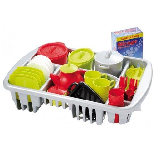 Набор посуды Ecoiffier Pro-Cook 1210 зеленый/серый/красный