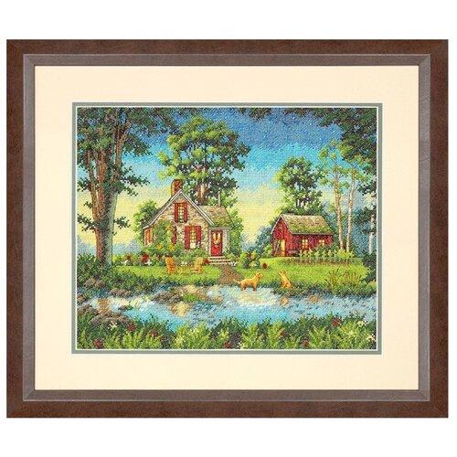 Купить Dimensions Набор для вышивания крестиком Summer Cottage 35, 5 х 27, 9 см (35340), Наборы для вышивания