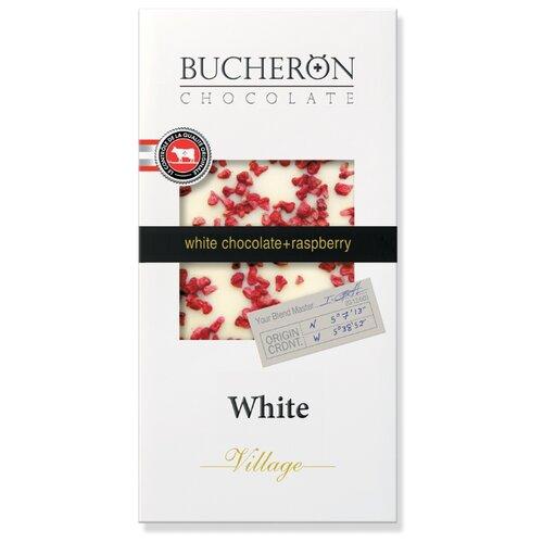 шоколад bucheron village горький с миндалем 100 г Шоколад Bucheron Village белый с кусочками малины, 100 г