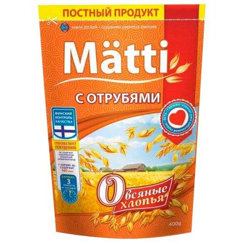 цена на Matti Хлопья овсяные с отрубями, 400 г