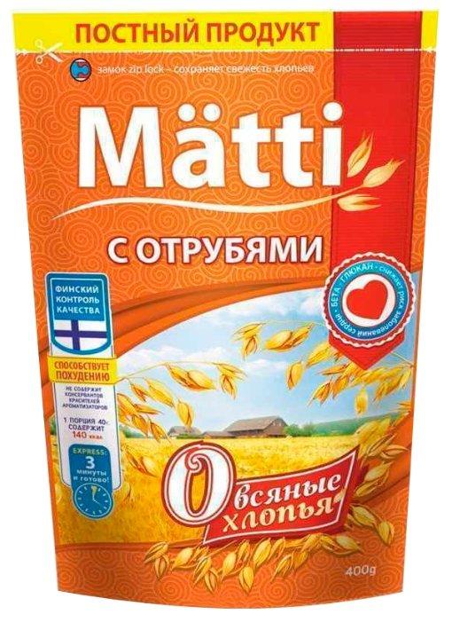 Matti Хлопья овсяные с отрубями, 400 г