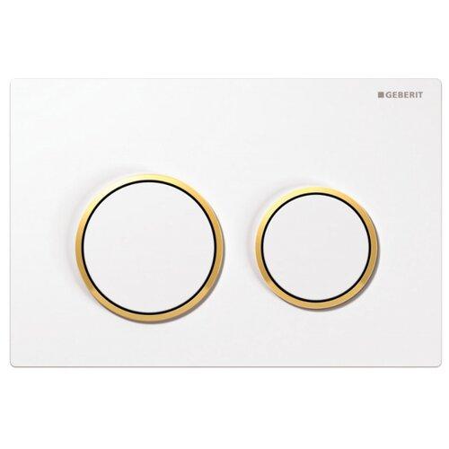Кнопка смыва GEBERIT 115.085.KK.1 Omega 20 белый/золотоИнсталляции для унитазов, писсуаров, биде<br>