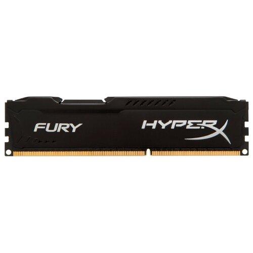 Фото - Оперативная память HyperX Fury DDR3 1600 (PC 12800) DIMM 240 pin, 8 GB 1 шт. 1.5 В, CL 10, HX316C10FB/8 оперативная память corsair xms ddr3 1600 pc 12800 dimm 240 pin 8 гб 1 шт 1 5 в cl 11 cmx8gx3m1a1600c11