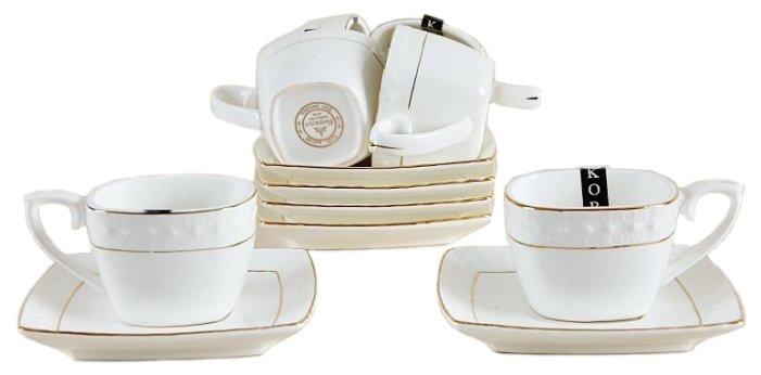 Набор кофейный Коралл CS507006-A, Керамика