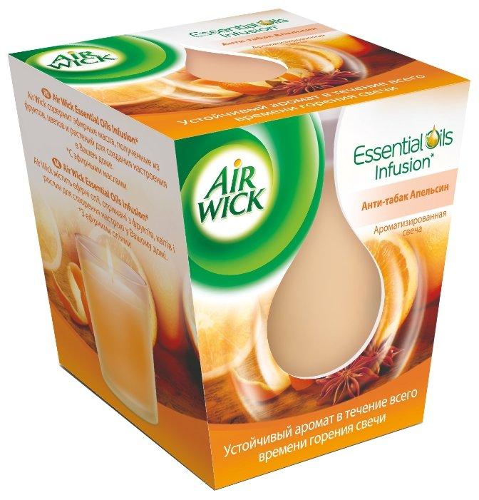 AIRWICK Ароматизированная свеча Анти-табак Апельсин 105 гр