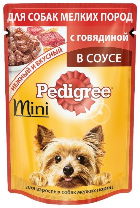 Корм для собак Pedigree для здоровья кожи и шерсти, для здоровья костей и суставов, говядина 85г (для мелких пород)