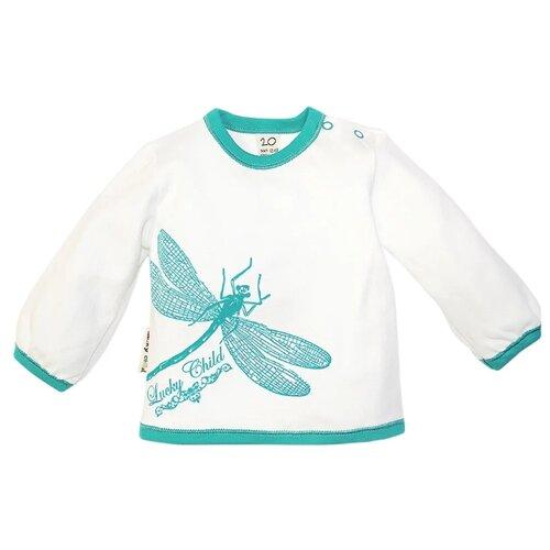 Лонгслив lucky child размер 24, бирюза/кремовыйФутболки и рубашки<br>