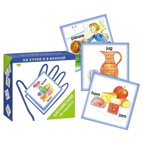 Купить Набор карточек Маленький гений Английский на ладошке. На кухне и в ванной 10.5x10.5 см 48 шт., Дидактические карточки