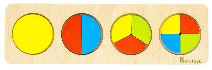 Рамка-вкладыш Alatoys Дроби-круги (ДР1001), 10 дет.