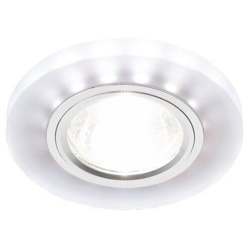светильник ambrella light s214 wh ch wh led Встраиваемый светильник Ambrella light S214 WH/CH/WH, матовый/хром