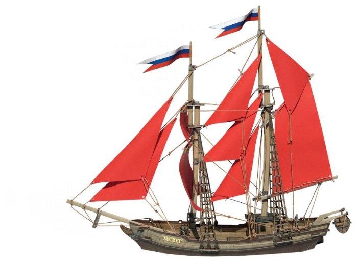 Сборная модель Умная Бумага Бригантина (484),,