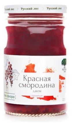 Джем Русский Лес красная смородина премиум, банка 220 г