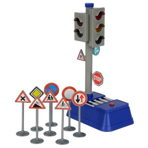 Dickie Toys Светофор и дорожные знаки 3741001 синий/серый/красный dickie светофор набор дорожных знаков 24 см 3741001