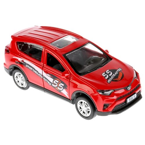 Внедорожник ТЕХНОПАРК Toyota RAV4 Спорт (RAV4-S) 12 см красный цена 2017