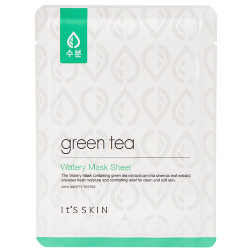 ItS SKIN Тканевая маска Watery с зеленым чаем, 17 гМаски<br>