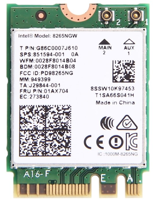 Bluetooth+Wi-Fi адаптер Intel 8265NGW.AC