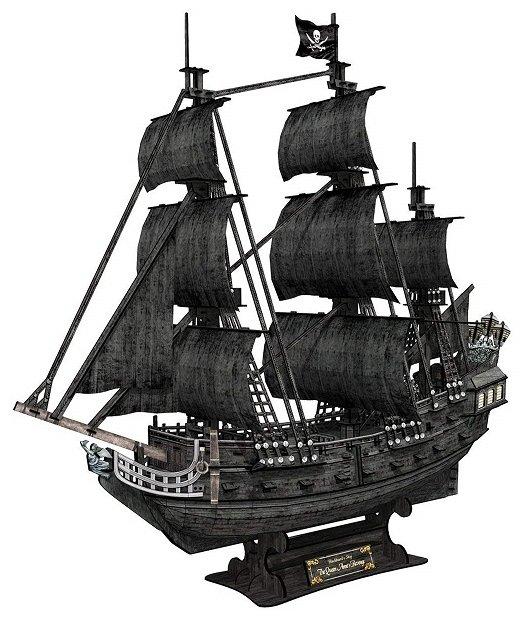 Пазл CubicFun Корабль Месть королевы Анны (T4018h), 308 дет.