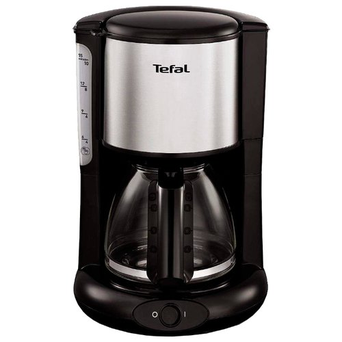 Кофеварка Tefal CM361838 черный/серебристый
