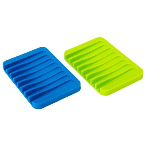 Мыльница ruges Рельеф V-6 зеленый/синий