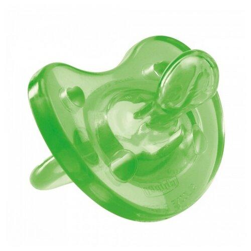 Пустышка силиконовая ортодонтическая Chicco Physio Soft 0-6 м (1 шт) зеленыйПустышки и аксессуары<br>