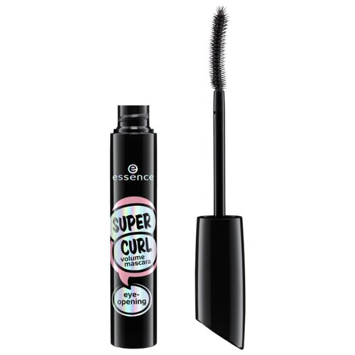 Essence Тушь для ресниц Super Curl Volume Mascara Eye-Opening, черный