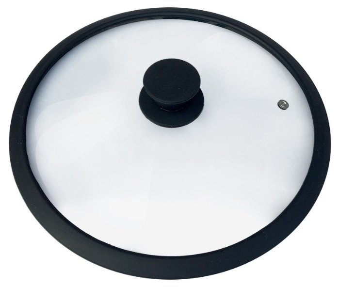 Крышка Mallony Cappello, диаметр 28см, стекло, обод/ручка силикон, паровыпуск, 3546