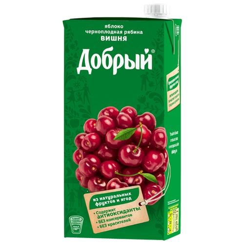 Нектар Добрый Яблоко-Черноплодная рябина-Вишня, 2 лСоки, нектары, морсы<br>