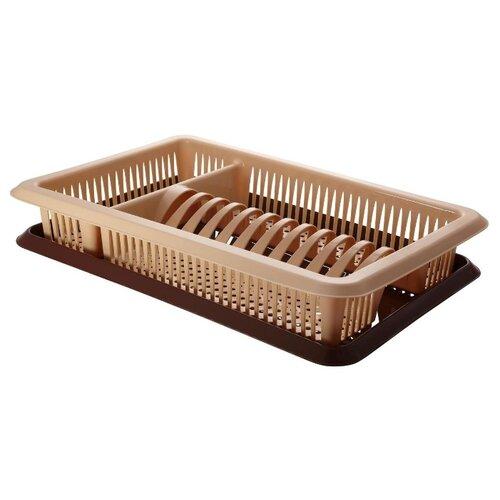 Сушилка для посуды Plastic Centre Лилия крышка для свч plastic centre galaxy цвет малиновый прозрачный диаметр 22 см