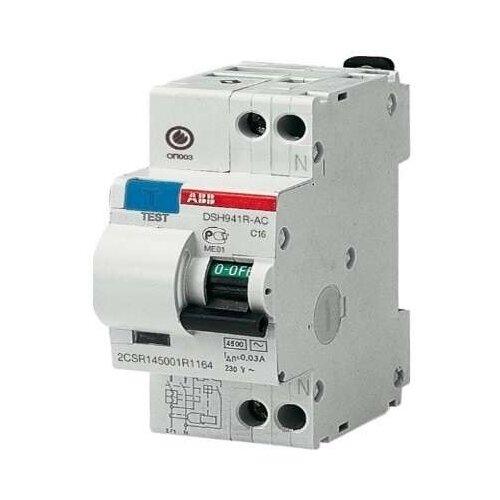 Дифференциальный автомат ABB DSH941R 2П 30 мА C 32 АДифференциальные автоматы<br>