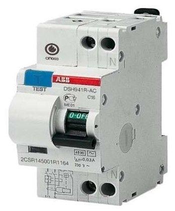 Дифавтомат 2P C16 30mA, 4,5kA - ABB DSH941r (арт. 2CSR145001R1164)