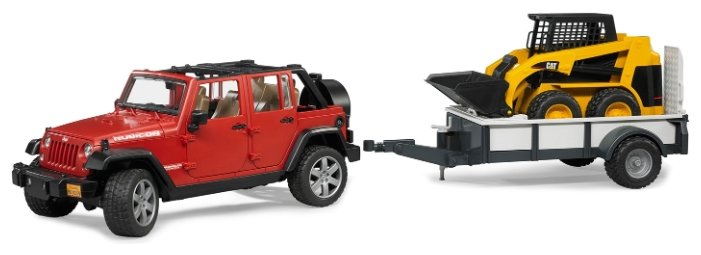 Набор техники Bruder Внедорожник Jeep Wrangler Unlimited Rubicon (02-925) 1:16 32.9 см