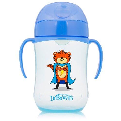 Купить Поильник-непроливайка Dr. Brown's Soft-Spout Toddler Cup TC91024/TC91025, 270 мл синий супергерой, Поильники