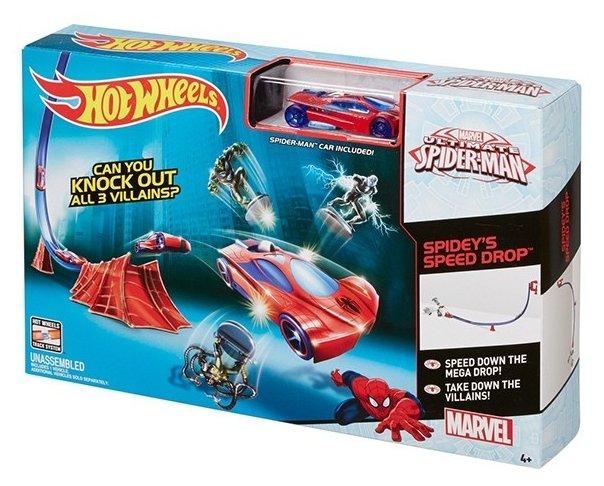 Трек Hot Wheels Марвел Приключения супергероев: Человек-Паук DKT27-1